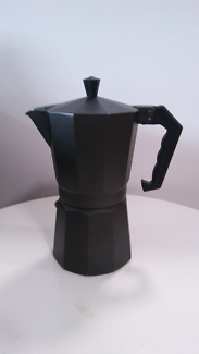 Black coffee percolator as new never used