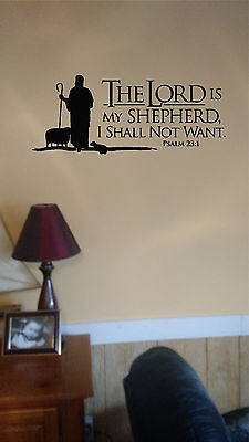 Psalms 23 The Lord Is My Shepherd Wall Lettering Mural Vinyl Decals Bible Verse