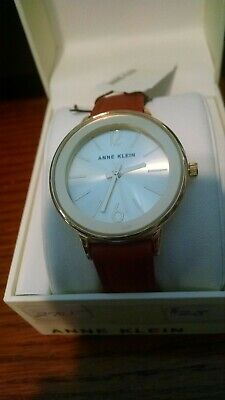 Anne Klein Women's Brown Leather Strap Watch NEW!