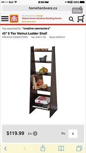 New in box ladder bookcase  (2avail)