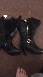 Boots woman's black high