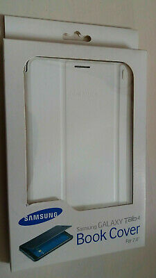 "100% Officiel Original Samsung Galaxy Tab4 7"" Book Cover Blanc etui a rabat"