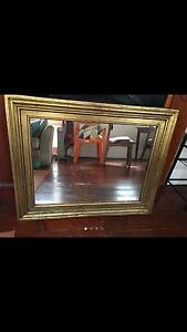 LARGE MIRROR | GOLD | Rustic/Antique Look Leichhardt Leichhardt Area Preview
