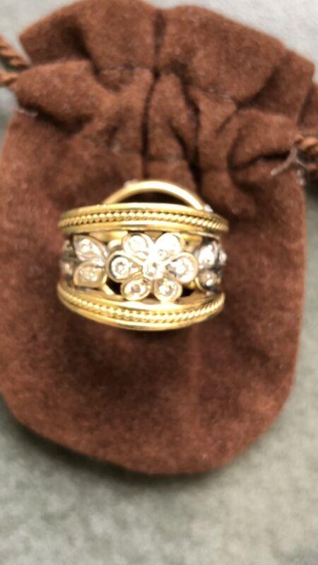 Seidengang 18k And Diamond Ring size 4.75