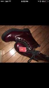 Brand new Never worn Burgandy boots