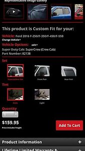 Weather Tech Ford Superduty Window Shades