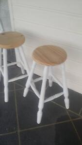 2 timber stools Royalla Queanbeyan Area Preview