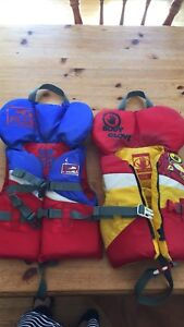 kids life jackets **Red/Blue sold. Red/Yellow available