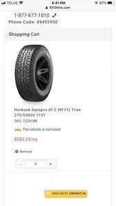275/55/20 truck tires