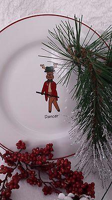 Ltd Commodities Dancer Single Plate Reindeer Salad Dessert Xmas Holiday