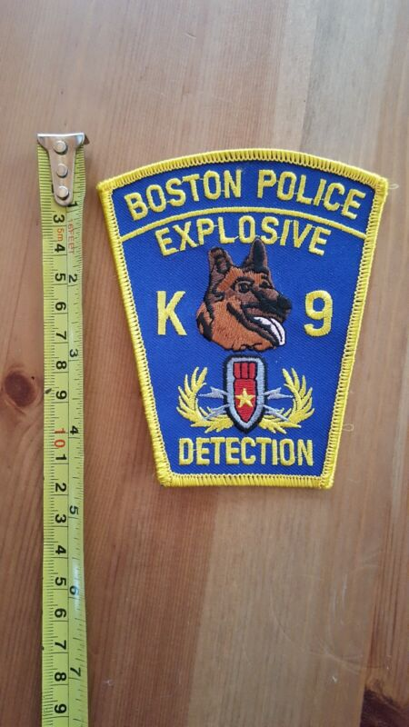 Boston MA Police K9 Explosive Detection Bomb Special Operations Patch EOD new