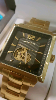 Classy Mens Michael Hill Gold watch XMAS GIFT!! cost $599