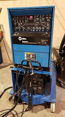 Miller Aerowave Hybrid Cc-acdc Tig-stick Power Source With Gas Bottle Cart