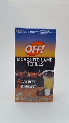 OFF! Mosquito Lamp Refills [2 REPELLENT DIFFUSERS / 2 CANDLES]
