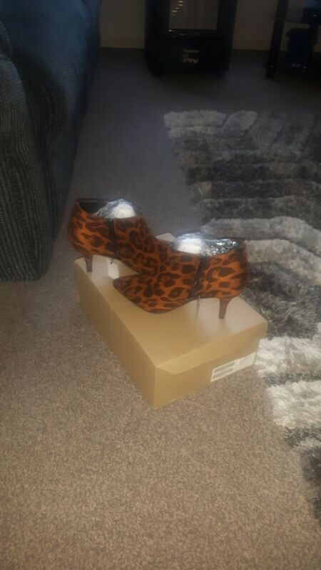 Animal+print+ankle+boots+size+6+Wide+fit