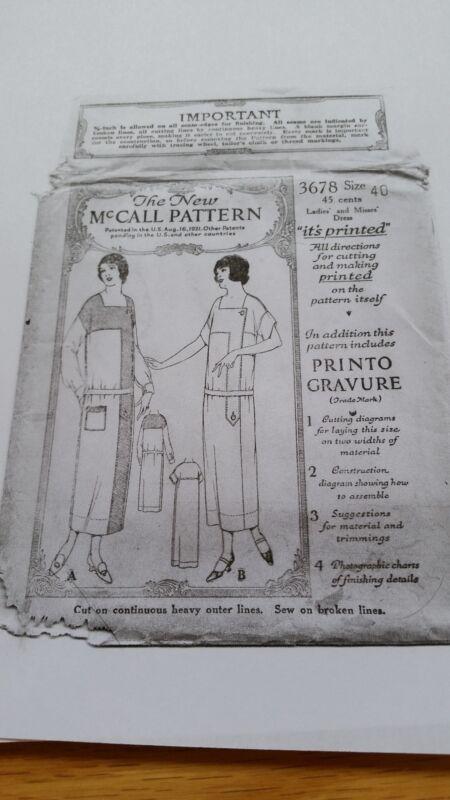*RARE -Vintage Sewing Pattern- Dress 1920
