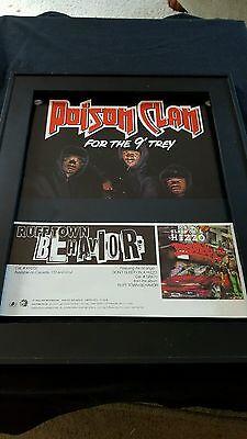 Poison Clan Ruff Town Behavior Rare Original Promo Poster Ad Framed!