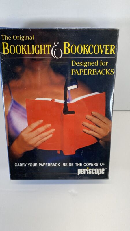 Vintage Periscope Booklight in a Bookcover In RED for Paperbacks BL-30