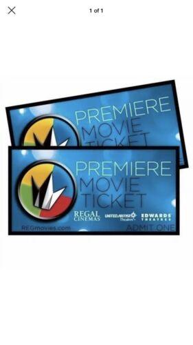 Regal Cinema Tickets. Count Five - $30.00