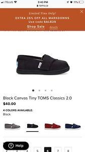 BLACK CANVAS TINY TOMS CLASSICS 2.0