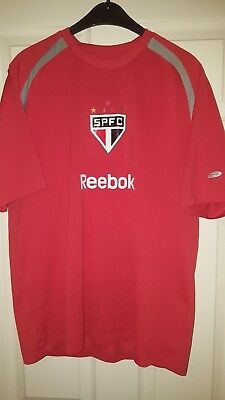 Mens Football Shirt - Sao Paulo Brazil Club Team - Training - Reebok - Size M UK