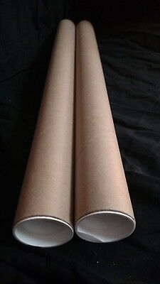 Mailing Tubes With Caps Kraft 2 Inch X 24 Inch 2 Pack .060 Thick