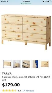LOOKING FOR IKEA Tarva, 6-Drawer Chest