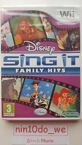 DISNEY SING IT FAMILY HITS (Wii)*NEW* Jungle Book/Lion King/Cinderella/Toy Story