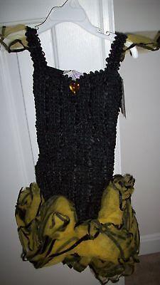 Butterfly Ballerina Costume (new Flower Yellow Black Bumble Bee Butterfly TUTU Ballerina Costume Girls sz)