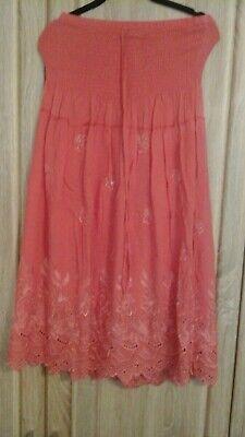 Damen Mädchen luftiges doppellagiges Kleid mit Gummizug und Bindeband M L, top! ()
