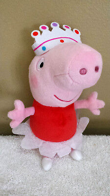 "8"" Pig Ballerina Peppa, Plush Toy, Beanbag, Stuffed Animal, TY"