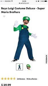 DELUX LUIGI children's costume size M (age 7-8)