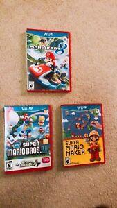 Super Mario Bros. U, Super Mario Maker, Mariokart 8