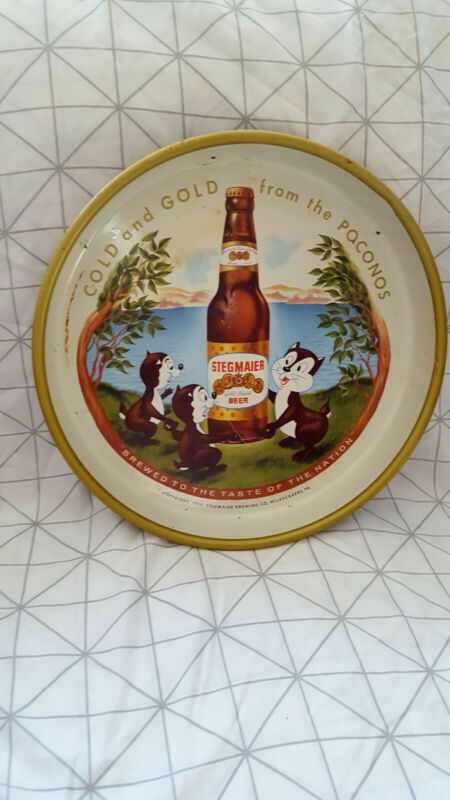 Vintage Antique Stegmaier Beer Ale Restaurant Alcohol Serving Tray 1950s 1959