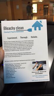 BOND CLEANING - BLEACHY CLEAN - CLEANING & PROPERTY MAINTENANCE