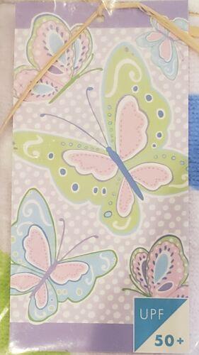 POTTERY BARN KIDS GIRLS BEACH TOWEL LAVENDER BUTTERFLIES - BRAND NEW / NWT - $11.99