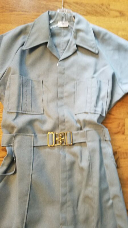 Vintage Para-Suit Denim Colored Jumpsuit Coveralls Men's Size 38 Short