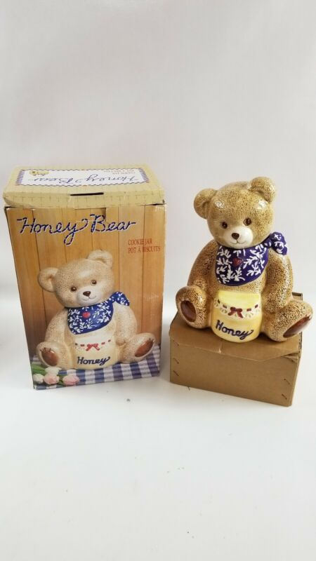 TEDDY BEAR in the HONEY POT Kitchen Collectible Cookie Jar