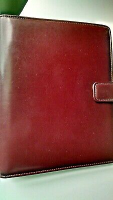 1988 Day Runner Classic Planner 3 Ring Organizer Faux Leather 8x10