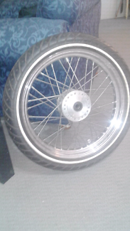 """Harley Davidson sportster 19"""" front rim and tyre"""