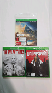 Assassins Creed Origins, Wolfenstien 2, The Evil Within 2