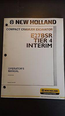New Holland E27 Compact Excavator Operator's Manual