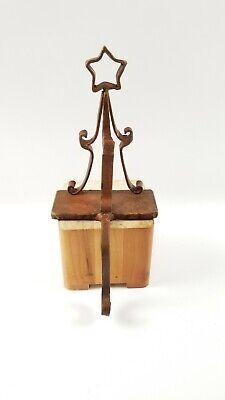 Rustic Cast Iron Christmas Tree Mantle Hook Stocking Holders