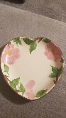 Franciscan Desert Rose Heart Shape Dish Plate England Pottery Heart Shape Dish