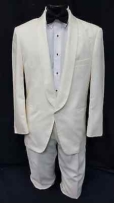 Mens 41 R Ivory Tuxedo Dinner Jacket Cheap Costume Theater Reenactment Coat