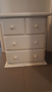 Cream bedside table x1 only Cranbourne Casey Area Preview
