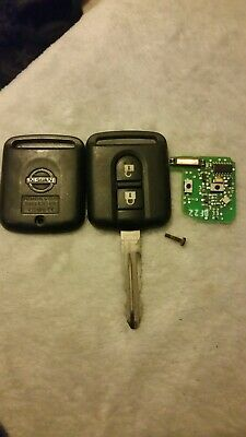 GOZAR Remote Entry Key Shell Case 2 Buttons for Nissan Pulsar Patrol