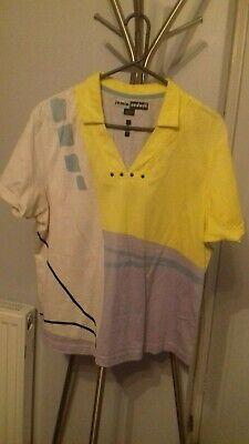 Jamie Sadock Active wear Yellow/Grey  SIze Large