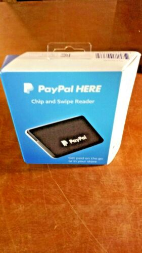 """PayPal CHIP & SWIPE READER. BLACK. """"GET PAID ON THE GO OR IN YOUR STORE""""."""