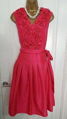 Jessica Howard Fushia Pink Occasion Fit & Flare Dress, size 12 Weddings Races